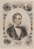 Political:Posters & Broadsides (pre-1896), Abraham Lincoln: Graphic Magazine Centerfold as President-Elect....