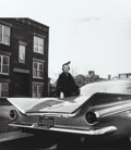 Photographs:Gelatin Silver, Mickey Pallas (American, 1916-1997). Lady in Mink, Buicks and their Owners, Chicago, 1959. Gelatin silver, printed later...