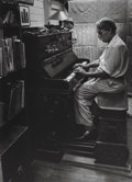 Photographs:Gelatin Silver, W. Eugene Smith (American, 1918-1978). Albert Schweitzer at anorgan from A Man of Mercy, 1954. Gelatin silver. 13-3...