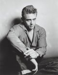 Photographs:Gelatin Silver, Roy Schatt (American, 1909-2002). James Dean smoking, New YorkCity, 1954. Gelatin silver, printed 1960s. 17-3/4 x 14 in...