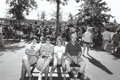 Photographs:Gelatin Silver, Bill Owens (American, b. 1938). Untitled (Family on a park bench), circa 1978. Gelatin silver. 6 x 8-7/8 inches (15.2 x ...