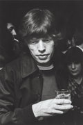 Photographs:Gelatin Silver, Ron Galella (American, b. 1931). Mick Jagger at the After Dark Ruby Awards at the Delmonico Hotel, NYC, 1973. Gelatin si...