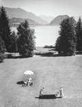 Photographs, Alfred Eisenstaedt (American, 1898-1995). Emil Jannings and family on vacation, Wolfgangsee, Austria, 1932. Gelatin silv...