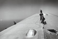 Photographs, Alfred Eisenstaedt (American, 1898-1995). Repairing the hull of the Graf Zeppelin during the flight over the Atlantic, 1...