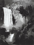 Photographs, Ansel Adams (American, 1902-1984). Vernal Fall, Yosemite Valley, 1948. Gelatin silver, printed later. 10-7/8 x 8-1/2 inc...