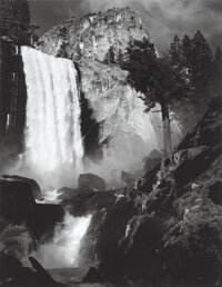 Ansel Adams (American, 1902-1984) Vernal Fall, Yosemite Valley, 1948 Gelatin silver, printed later