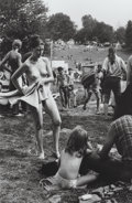 Photographs, Burk Uzzle (American, b. 1938). Woodstock, girl with towel, 1969. Gelatin silver. 10 x 6-1/2 inches (25.4 x 16.5 cm). Si...