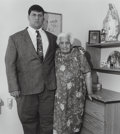 Photographs:Gelatin Silver, Milton Rogovin (American, 1909-2011). A Group of Three Photographs of a Mother and Son. Gelatin silver. 7 x 6-3/8 inches... (Total: 3 Items)