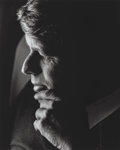 Photographs:Gelatin Silver, Lawrence Schiller (American, b. 1936). Robert Kennedy Portrait from The Last Campaign, April, 1968. Gelatin silver, ...
