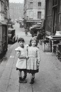 Photographs:Gelatin Silver, Edouard Boubat (French, 1923-1999). Deux Fillettes, 1952.Gelatin silver, printed later. 14 x 9-1/4 inches (35.6 x 23.5 ...