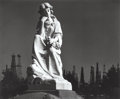 Photographs, Ansel Adams (American, 1902-1984). Cemetery Statue and Oil Derricks, Long Beach, California, 1939. Gelatin silver, 1976...