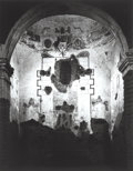 Photographs, Ansel Adams (American, 1902-1984). Interior of Tumacacori Mission, New Mexico, circa 1952. Gelatin silver, 1976. 19-1/2 ...