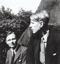Photographs:Gelatin Silver, Louise Dahl-Wolfe (American, 1895-1995). Christopher Isherwood and W.H. Auden in Central Park, N.Y, 1938. Gelatin silver...