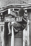 Photographs, W. Eugene Smith (American, 1918-1978). Pride Street, Pittsburgh, 1955. Gelatin silver. 13-3/4 x 9-1/4 inches (34.9 x 23....