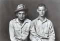 Photographs:Gelatin Silver, Mike Disfarmer (American, 1884-1959). I.D. Stark and Bill Stone,Cousins, circa 1940-1945. Gelatin silver, printed later...