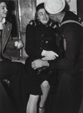 Photographs, Lou Stoumen (American, 1917-1991). Sailor and Girl on Subway, 1940. Gelatin silver, printed later. 11-5/8 x 8-5/8 inches...