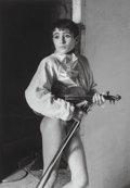 Photographs, Lucien Clergue (French, 1934-2014). Violinist, Arles, 1954. Gelatin silver, 1985. 14 x 9-7/8 inches (35.6 x 25.1 cm). Si...