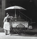 Photographs, Harold Zegart (American, 1925-2012). Hot Dog Vendor, 1952. Gelatin silver. 11 x 10-1/2 inches (27.9 x 26.7 cm). Dated in...
