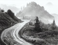Photographs:Gelatin Silver, Huntington Witherill (American, b. 1949). Route 101, OregonCost, 1975. Gelatin silver. 10-3/8 x 13-1/2 inches (26.4 x 3...