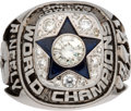 Football Collectibles:Others, 1971 Dallas Cowboys Super Bowl VI Championship Ring Presented to Offensive Tackle Ralph Neely.. ...