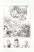 Original Comic Art:Panel Pages, Keith Giffen and Andy Smith Webspinners: Tales of Spider-Man #4 Story Page 5 Original Art (Marvel Comics, 1999)....