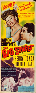"Movie Posters:Drama, The Big Street (RKO, 1942). Insert (14"" X 36"").. ..."