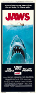 "Movie Posters:Horror, Jaws (Universal, 1975). International Insert (14"" X 36"") RogerCastel Artwork.. ..."