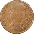 Colonials, 1786 CONNCT Connecticut Copper, Draped Bust Left, M. 6-K, W-2690, R.5, VF35 NGC. ...
