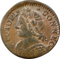 Colonials, 1787 CONNCT Connecticut Copper, Mailed Bust Left, M. 11.1-E, W-2870, R.2 -- Improperly Cleaned -- NGC Details. VF....