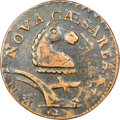 1787 NJERSY New Jersey Copper, Camel Head, Struck Over a Contemporary Counterfeit Irish Halfpenny, Maris 56-n, W-5310, R...