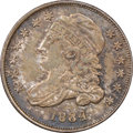 Bust Dimes, 1834 10C Large 4, JR-5, R.1, MS62 NGC....