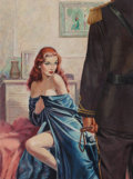 Paintings, Harry Barton (American, 1908-2001). Add Flesh to the Fire paperback cover, 1959. Oil on board. 18 x 14 in. (image). Sign... (Total: 2 Items)