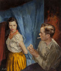 Mainstream Illustration, James Avati (American, 1912-2005). Serenade paperback cover,1954. Oil on board. 17.75 x 13.25 in. (image). Signed lower...(Total: 3 Items)