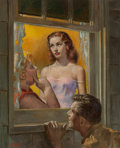 Paintings, James Avati (American, 1912-2005). Sure Hand of God, paperback cover, 1953. Oil on board. 13.25 x 10.5 in. (image). Sign... (Total: 2 Items)