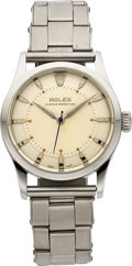 "Timepieces:Wristwatch, Rolex Ref. 6332 ""Big Bubble Back"" With Rare Stepped Dial, circa1954. ..."