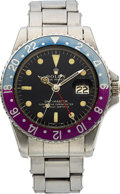 Timepieces:Wristwatch, Rolex Ref. 1675 Steel GMT-Master, circa 1967. ...