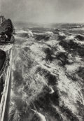 Photographs, Alfred Eisenstaedt (American, 1898-1995). Hurricane in the Atlantic, S.S. Queen Elizabeth starboard, 1948. Gelatin silve...