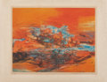 Fine Art - Work on Paper:Print, Zao Wou-Ki (1921-2013). Joui L'Ete, 1968. Etching andaquatint in colors on Arches. 20-7/8 x 26-1/2 inches (53.0 x 67.3...