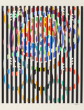 Prints & Multiples, Yaacov Agam (b. 1928). Message of Peace, 1988. Silkscreen in colors . 35-1/4 x 29-1/4 inches (89.5 x 74.3 cm) (image). 4...