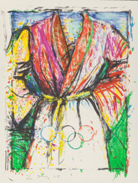 Jim Dine (b. 1935) Olympic Robe, 1988 Lithograph in colors 35 x 27 inches (88.9 x 68.6 cm) (shee