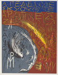 Fine Art - Work on Paper:Print, Mimmo Paladino (b. 1948). Untitled, 1988. Linocut in colors. 33-1/2 x 25-1/2 inches (85.1 x 64.8 cm) (image). 35-1/4 x 2...