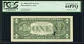 Error Notes:Ink Smears, Ink Smear on Back Error Fr. 1908-D $1 1974 Federal Reserve Note.PCGS Very Choice New 64PPQ.. ...