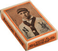 "Baseball Cards:Unopened Packs/Display Boxes, 1910 Geo. Davis ""American Sports"" (Orange Borders) Near CompleteBox with Devlin and Tigers! ..."