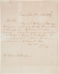 Autographs:Military Figures, Robert E. Lee Autograph Letter Signed and Envelope. ... (Total: 2 )