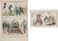 Art:Illustration Art - Mainstream, [19th Century Depictions of Slavery]. Nos. 43 and 60 of McLean'sMonthly Sheets of Caricatures;... (Total: 2 Items)