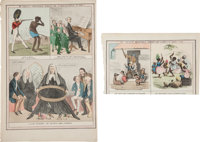 [19th Century Depictions of Slavery]. Nos. 43 and 60 of McLean's Monthly Sheets of Caricatures;