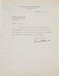 Autographs:Statesmen, Learned Hand Typed Letter Signed...