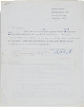 Autographs:Authors, Robert Lowell Typed Letter Signed... (Total: 2 Items)
