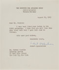 Autographs:Military Figures, Robert Oppenheimer Typed Letter Signed.... (Total: 3 Items)