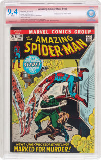 The Amazing Spider-Man #108 Verified Signature (Marvel, 1972) CBCS NM 9.4 White pages